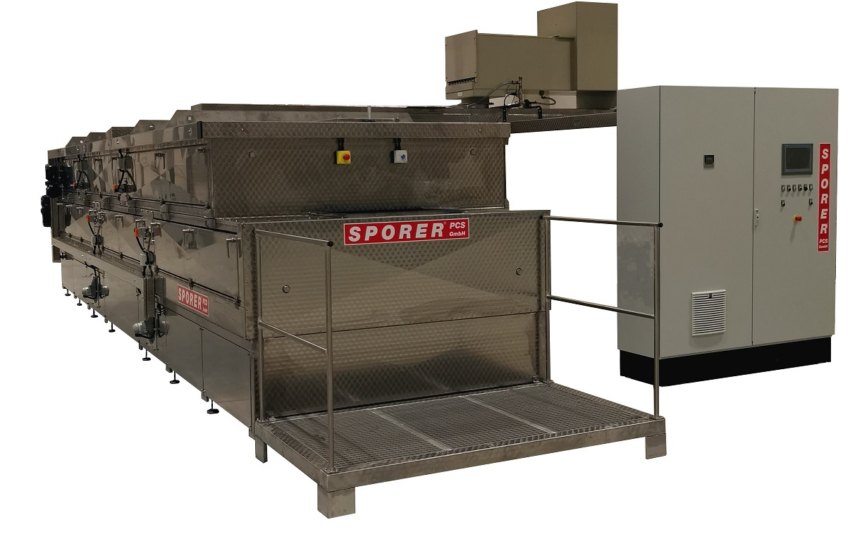 Continuous cleaning system for decoating films
