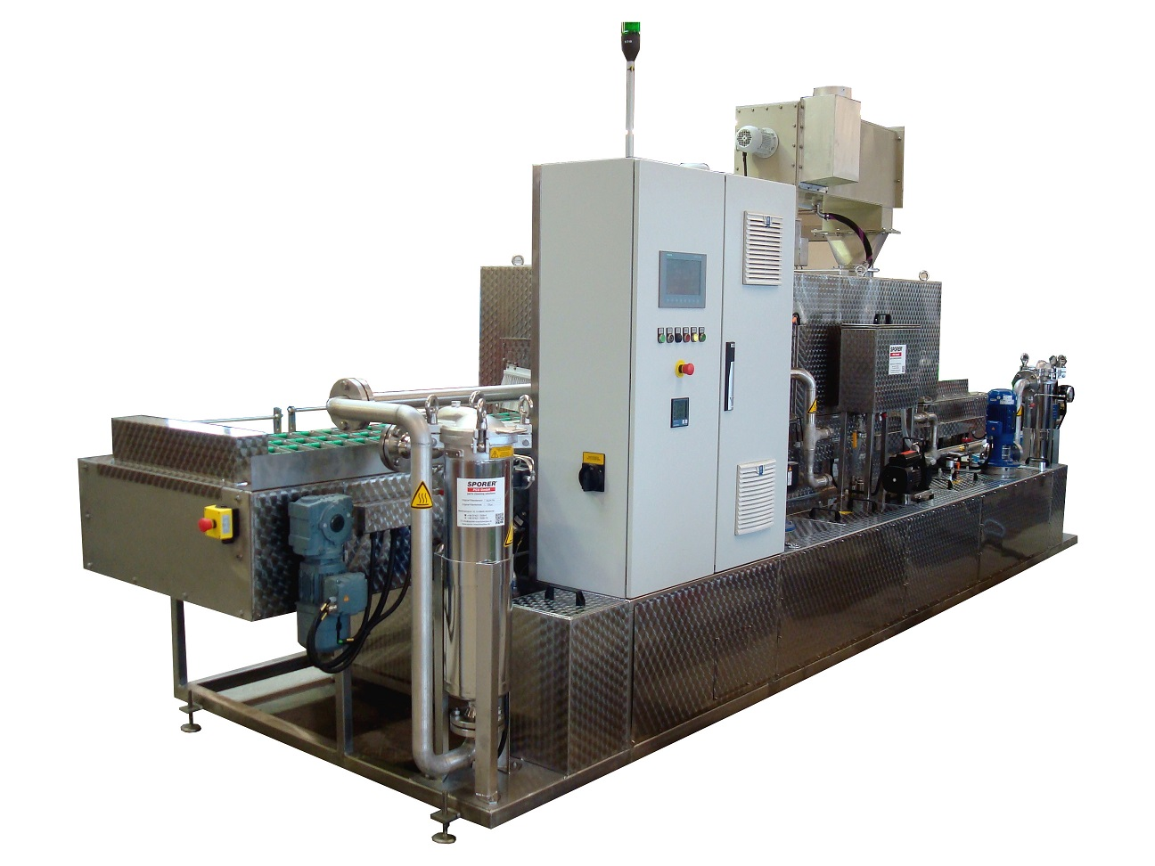 Cycled, robot-equipped continuous cleaning system cleaning / rinsing / drying with customer-specific component fixtures